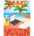 Vacation background card design vector image vector image