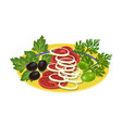 vegetable salad food and cooking single icon in vector image vector image