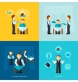 Waiter Man Icon Flat vector image vector image