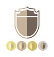 wankel metal shield icons vector image