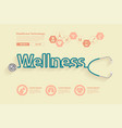 wellness health ideas concept design vector image vector image