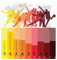 World Sport Isolate Action Icon Set vector image
