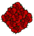 bouquet of red roses icon vector image