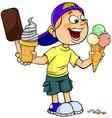 boy with ice-cream vector image