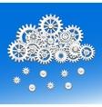 Mechanical gears cloud vector image