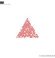 abstract fingerprint logo vector image vector image