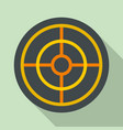 arch target icon flat style vector image vector image