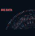 big data circular colorful vector image vector image