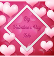 Big valentines day sale with white square frame
