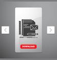 brand company identity letter presentation glyph vector image
