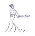 bridal logo wedding gown dress boutique design vector image vector image