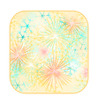 Button square New Year fireworks colored vector image vector image