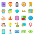 call up icons set cartoon style vector image vector image