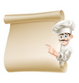 chef pointing at menu vector image