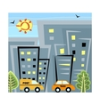 City life vector image vector image
