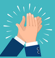 clapping hands icon vector image