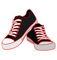 color of black sneakers vector image vector image