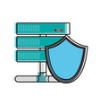 color wifi router technology with shield security vector image vector image