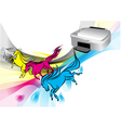 colors of printer vector image vector image