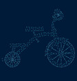 contour a tricycle blue lines with luminous vector image vector image