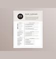 cv resume template - elegant stylish design vector image vector image