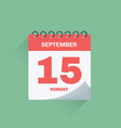 day calendar with date september 15 vector image