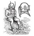 diving-dress and diving-helmet vintage vector image