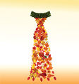 Dress made from autumn leaves vector image vector image