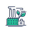 ecology- modern single line icon vector image vector image