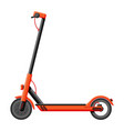 electric scooter isolated on white vector image