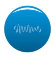 equalizer wave sound icon blue vector image vector image