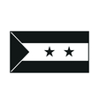 Flag of Sao Tome and Principe monochrome on white vector image