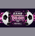 football banner or flyer design with 3d ball vector image vector image