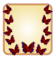 Frame with butterflies Nymphalis antiopa vector image vector image