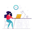 freelance work - flat design style colorful vector image