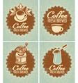 fresh brewed coffee vector image vector image