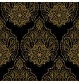 Gold Lotus Seamless Pattern vector image