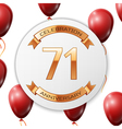 Golden number seventy one years anniversary vector image vector image