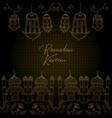 hand drawn ramadan background greeting card vector image vector image