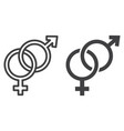 heterosexual line and glyph icon vector image vector image