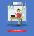 idea man concept in flat style vector image vector image