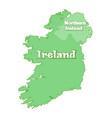 island of ireland map of ireland vector image
