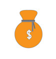 isolated moneybag icon vector image