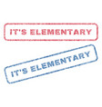 it s elementary textile stamps vector image vector image