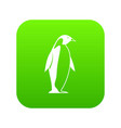 king penguin icon digital green vector image
