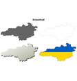 Kirovohrad blank outline map set vector image vector image