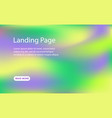 landing page template holographic background vector image vector image