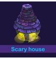 Little fairy house with strange inhabitants vector image vector image