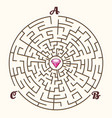 maze labyrinth path game vector image