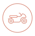 Motorcycle line icon vector image vector image